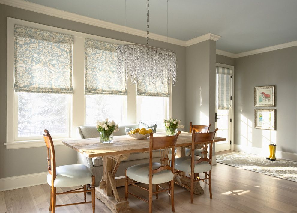 Valspar Paint Colors for a Traditional Dining Room with a Eclectic and Bridge Street Residence Breakfast Nook by Martha O'hara Interiors