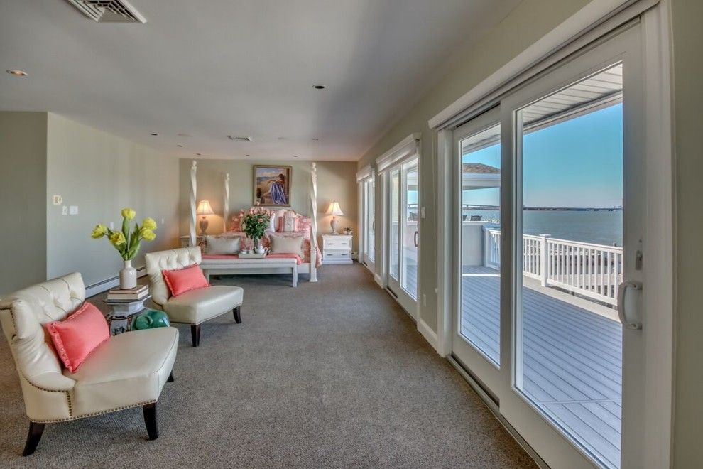 Value City Furniture Nj for a Beach Style Bedroom with a Monmouth County Nj Home Stagers and Luxury Home Staging in Ocean City, Nj 08226 Cape May County, Nj by Beautiful Interiors Design Group