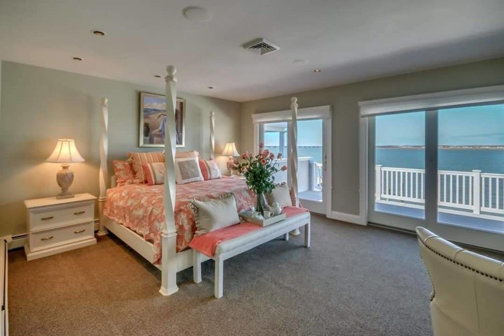 Value City Furniture Nj for a Beach Style Bedroom with a Nj Home Stager and Luxury Home Staging in Ocean City, Nj  08226 Cape May County, Nj by Beautiful Interiors Design Group