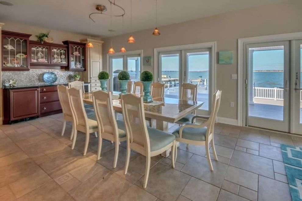 Value City Furniture Nj for a Beach Style Kitchen with a Nj Home Stager and Luxury Home Staging in Ocean City, Nj  08226 Cape May County, Nj by Beautiful Interiors Design Group