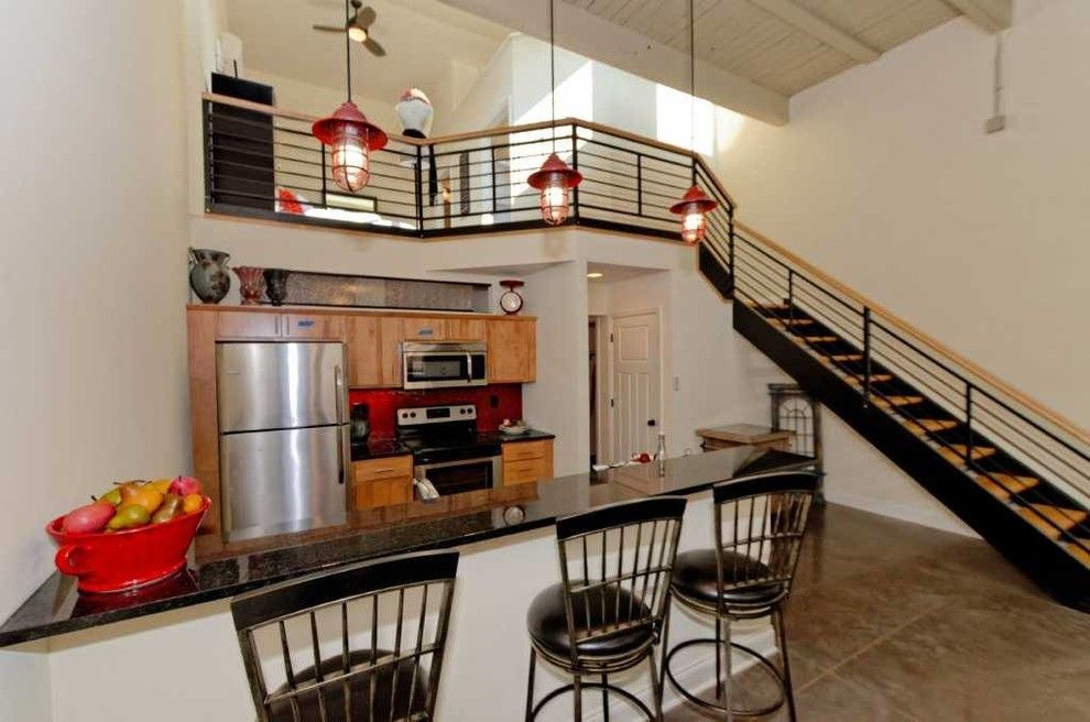 Value City Furniture Nj for a Industrial Kitchen with a Staircase and Window Factory Lofts by Viscusi Builders Ltd.