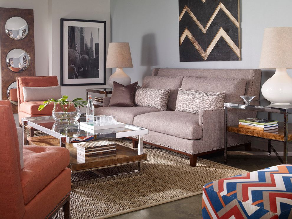 Vanguard Furniture for a  Living Room with a Pink and Living Room   Vanguard Furniture by Luxe Home Philadelphia