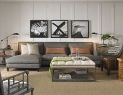 Vanguard Furniture for a  Living Room with a Tufted Ottoman and Living Room - Vanguard Furniture by Luxe Home Philadelphia