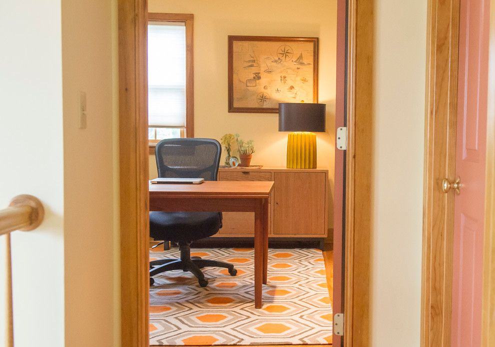 Vanguard Furniture for a Modern Home Office with a Cellular Shades and Chatham, Ny Home Office by Bespoke Decor