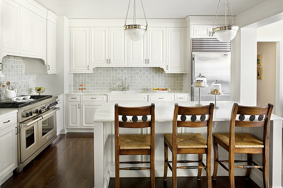 Vaughan Lighting for a Traditional Kitchen with a Kitchen Island and Streeterville Residence by Alan Design Studio