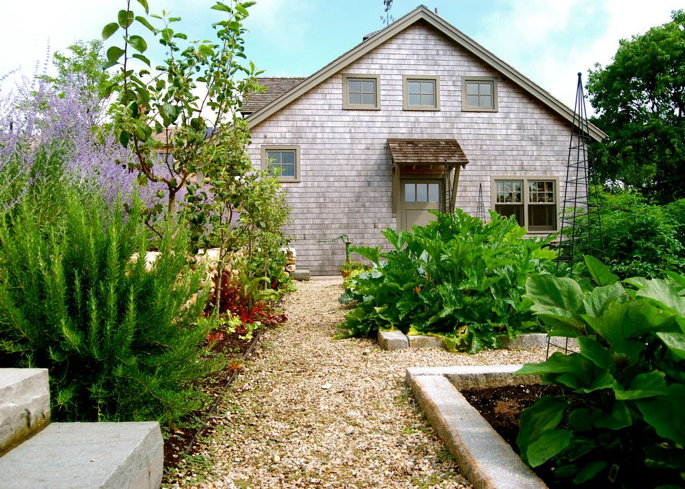 Vegetable Garden Layout for a Farmhouse Landscape with a Vegetable Garden and Cliffmore by the Garden Design Company