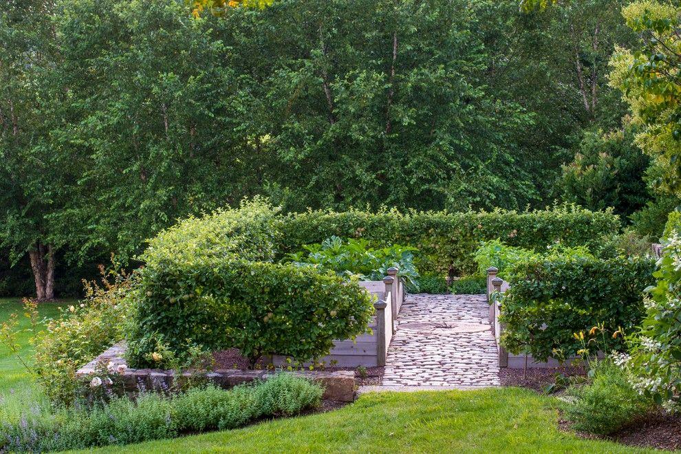 Vegetable Garden Layout for a Traditional Landscape with a Kitchen Garden and Vegetable Gardens by Dear Garden Associates, Inc.