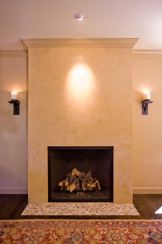 Venetian Plaster for a Eclectic Living Room with a Venetian Plaster and Living Room with Venetial Plaster Fireplace by Bill Fry Construction   Wm. H. Fry Const. Co.
