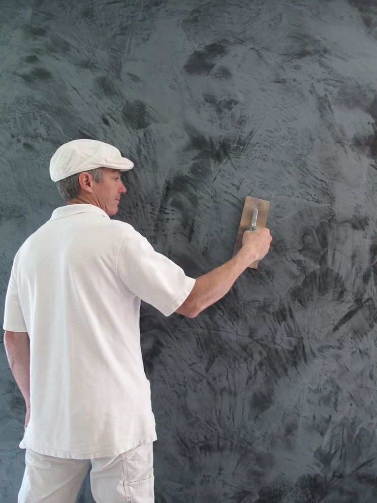Venetian Plaster for a Eclectic Living Room with a Venetian Plaster and Putting Down the Plaster by Xojy