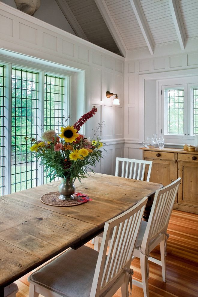 Vermont Farm Table for a Eclectic Dining Room with a Rustic Dining Table and Dining Room by Giambastiani Design