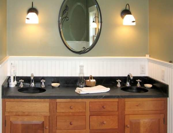 Vermont Soapstone for a Traditional Bathroom with a Light Wood Cabinets and Soapstone in Kitchens & Bathroom by Vermont Soapstone Co