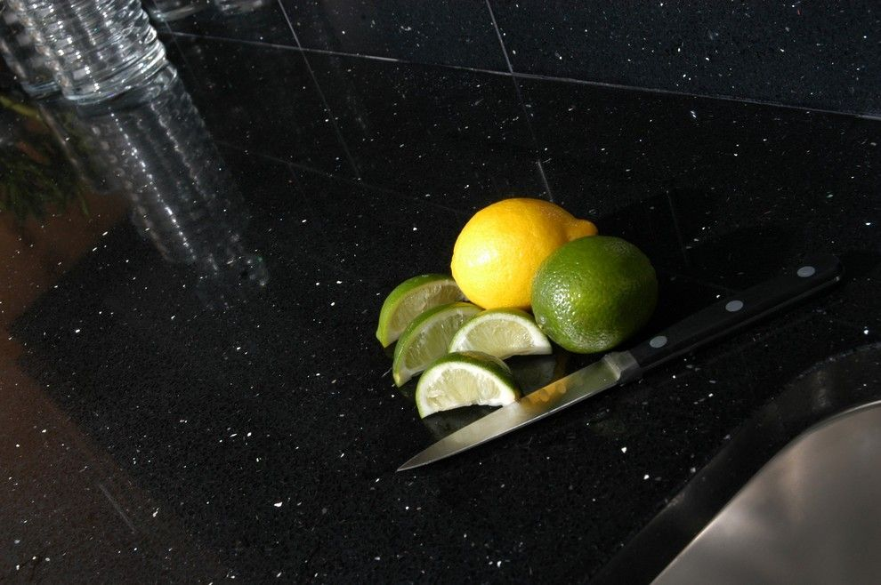 Verona Marble for a Contemporary Spaces with a Contemporary and Nero Stardust Kitchen 2 by Verona Marble Company