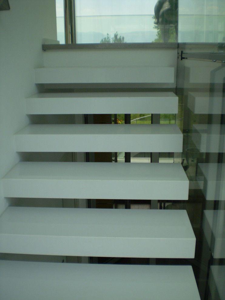 Verona Marble for a Contemporary Staircase with a Contemporary and Villa Gurulian by Verona Marble Company