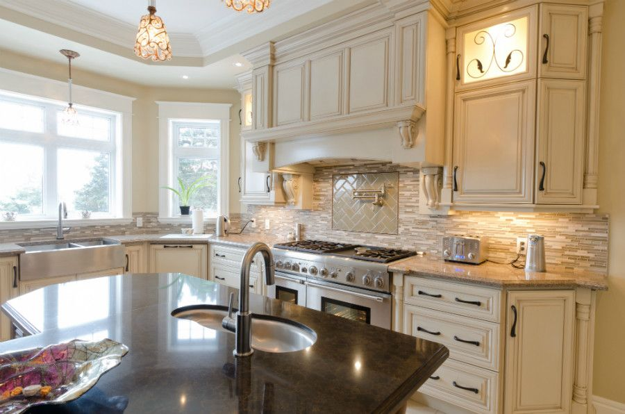 Viatera for a Traditional Kitchen with a Turnings and the Clarke's Residence by Yourstyle Kitchens Ltd