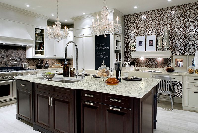 Viatera for a Traditional Spaces with a Viatera and Countertop Products Featured in Our Showroom by Attleboro Kitchen and Bath