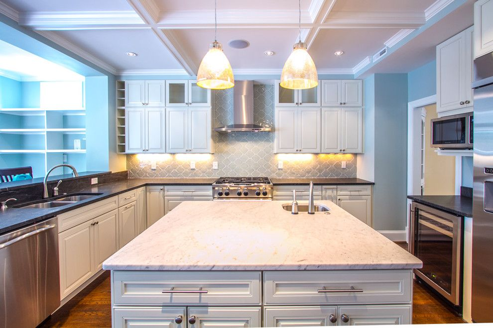 Virginia Mist Granite for a Traditional Kitchen with a Kitchenaid Appliances and New Home by Hsdavenport