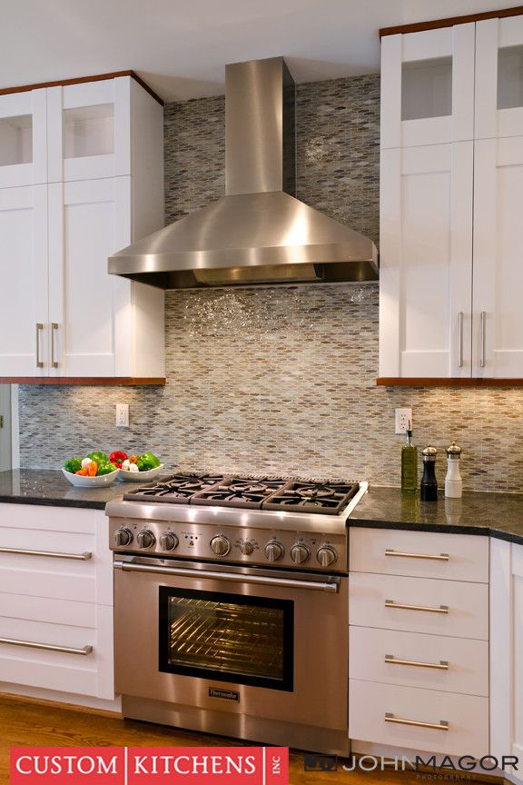 Virginia Mist Granite for a Traditional Kitchen with a Traditional and Contemporary #1 by Custom Kitchens Inc