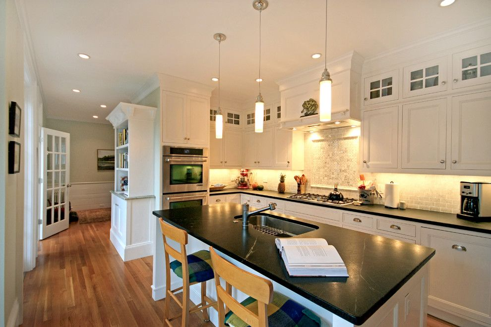 Virginia Mist Granite for a Traditional Kitchen with a White Kitchen and Feel the Light! by Eric H. Gjerde Aia