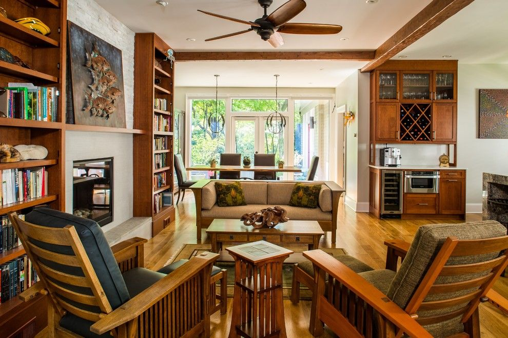 Virginia wayside furniture for a traditional sunroom with a red brick siding for Craftsman living room furniture