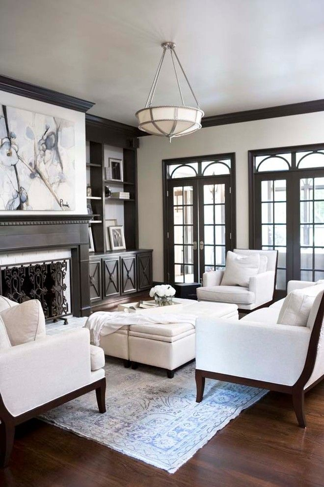 Virginia Wayside Furniture for a Traditional Living Room with a Upholstered Ottoman and City: McDougald Residence by Linda McDougald Design | Postcard From Paris Home