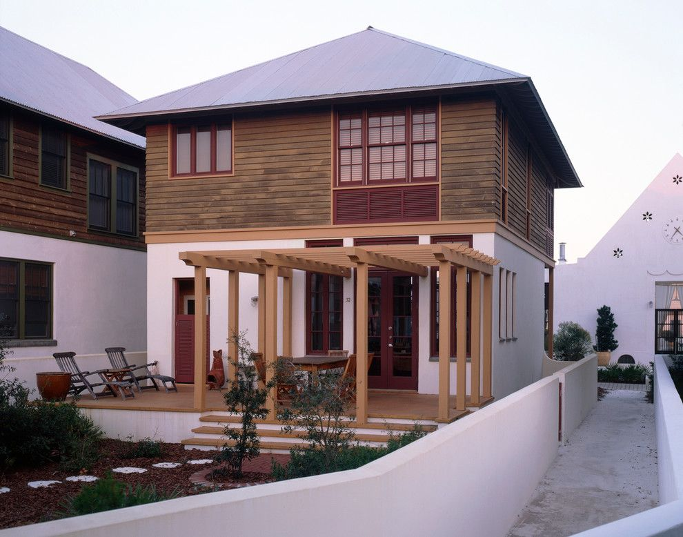 Vrbo Rosemary Beach for a Beach Style Exterior with a Maroon Trim and Rosemary Beach House by Kiara Designs Co.