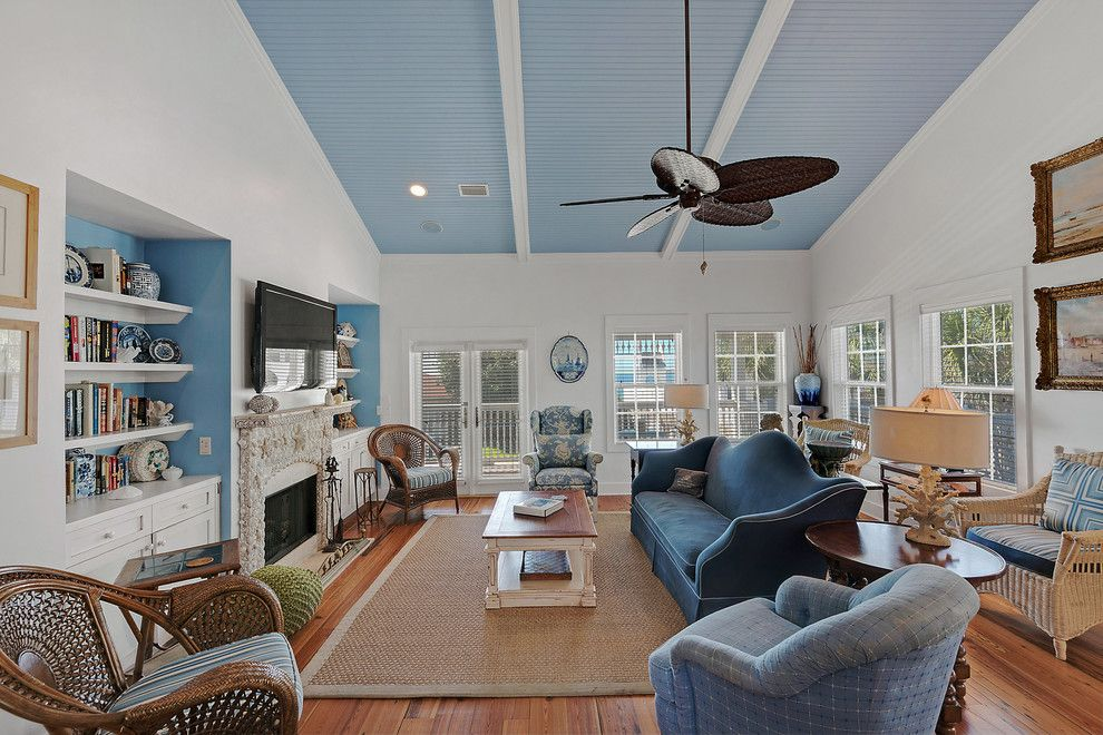 Vrbo Rosemary Beach for a Beach Style Living Room with a Blue Couch and 15 Greenwood Ave by Emerald Coast Real Estate Photography
