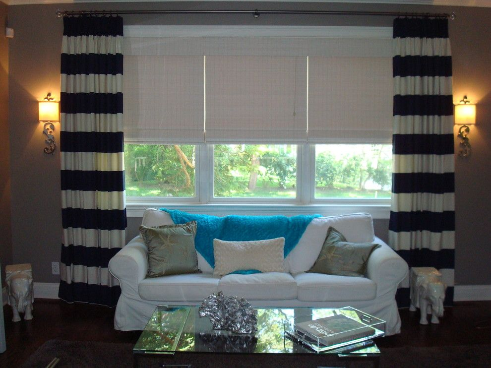 Wallauer for a Modern Spaces with a Wallauers and Roman Shades with Custom Drapery by Wallauer's Design Centers