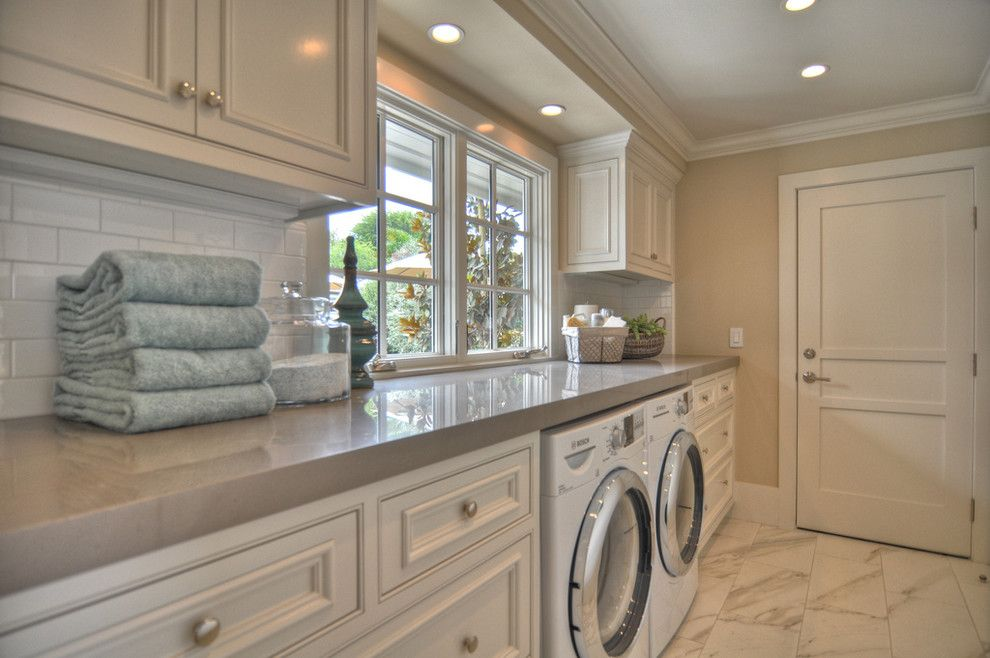 Wallington Plumbing Supply for a Beach Style Laundry Room with a White Wood and 1512 Dolphin Terrace by Spinnaker Development