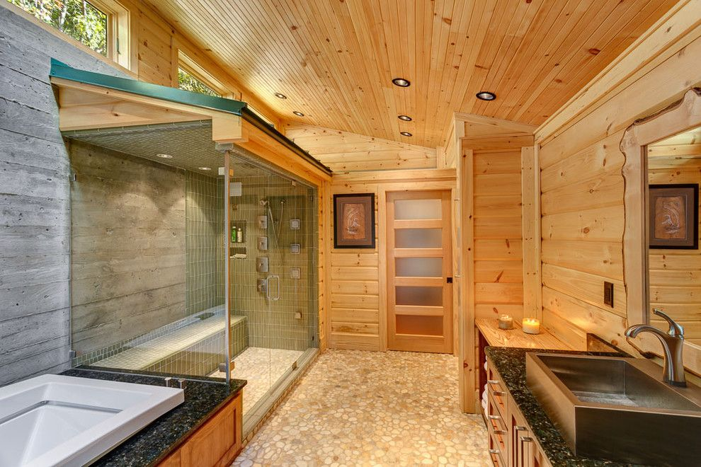 Wallington Plumbing Supply for a Contemporary Bathroom with a Passive and Azur by Anthemion Architecture LLC
