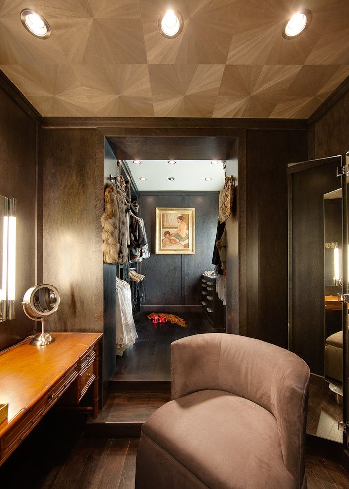 Wallington Plumbing Supply for a Contemporary Closet with a Ceiling Treatment and Modern Home by Feather & Gill Architects