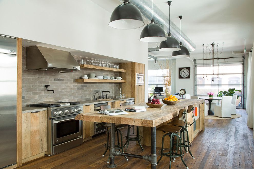 Wallington Plumbing Supply for a Industrial Kitchen with a Sliding Barn Doors and Marine Loft by Subu Design Architecture