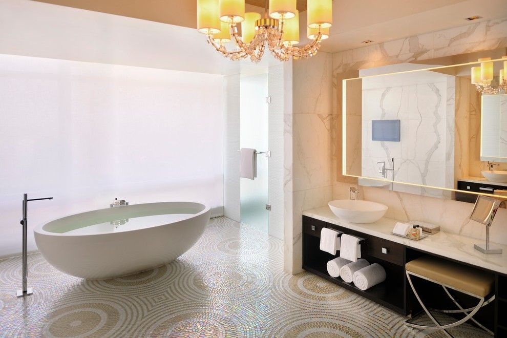 Wallington Plumbing Supply for a Modern Bathroom with a Vessel Sink and Tyrrell and Laing International, Inc. by Tyrrell and Laing International, Inc.