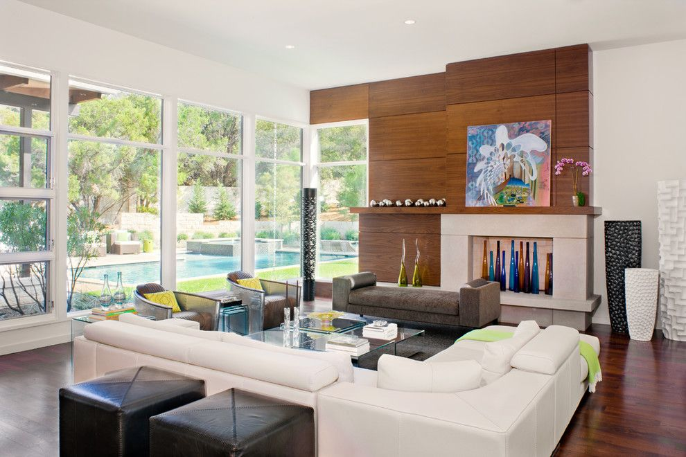 Walnut Creek Furniture for a Contemporary Living Room with a Austin Texas and Blanco House by Larue Architects