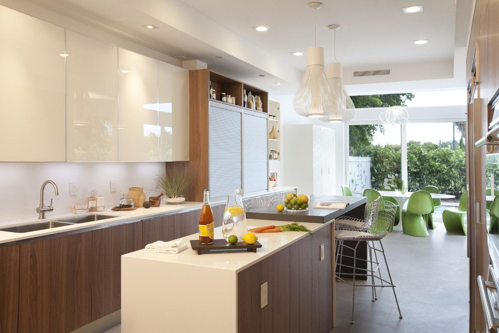Walnut Creek Furniture for a Modern Kitchen with a Pendant Lighting and a Modern Miami Home by Dkor Interiors Inc.  Interior Designers Miami, Fl