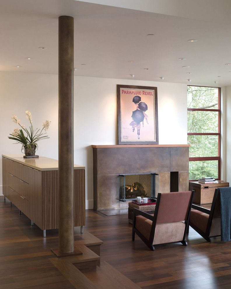 Walnut Creek Furniture for a Modern Living Room with a Modern Fireplace and Alamo Living Room by Banducci Associates Architects, Inc.
