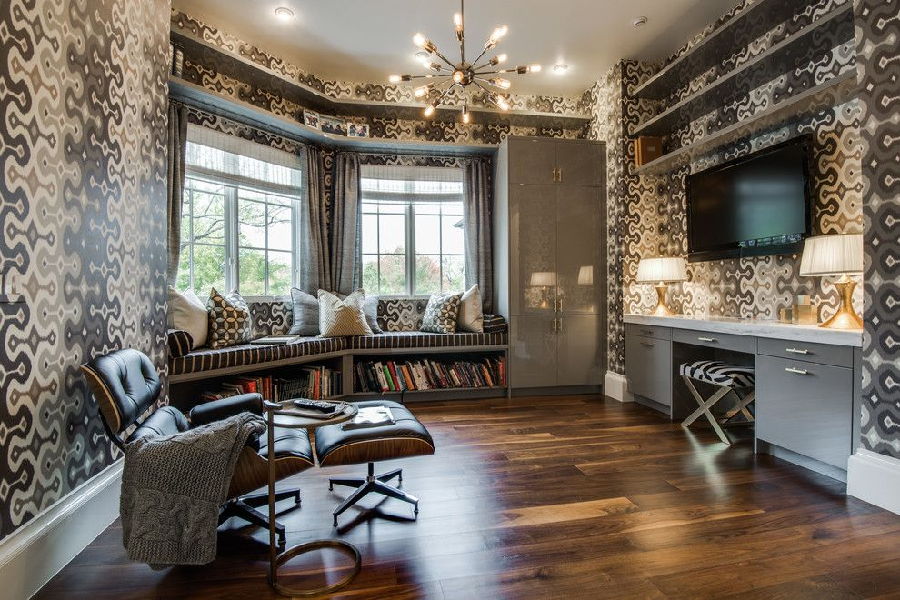 Walnut Creek Medical Group for a Mediterranean Family Room with a Wallpaper and Dallas One Story by Brown Design Group