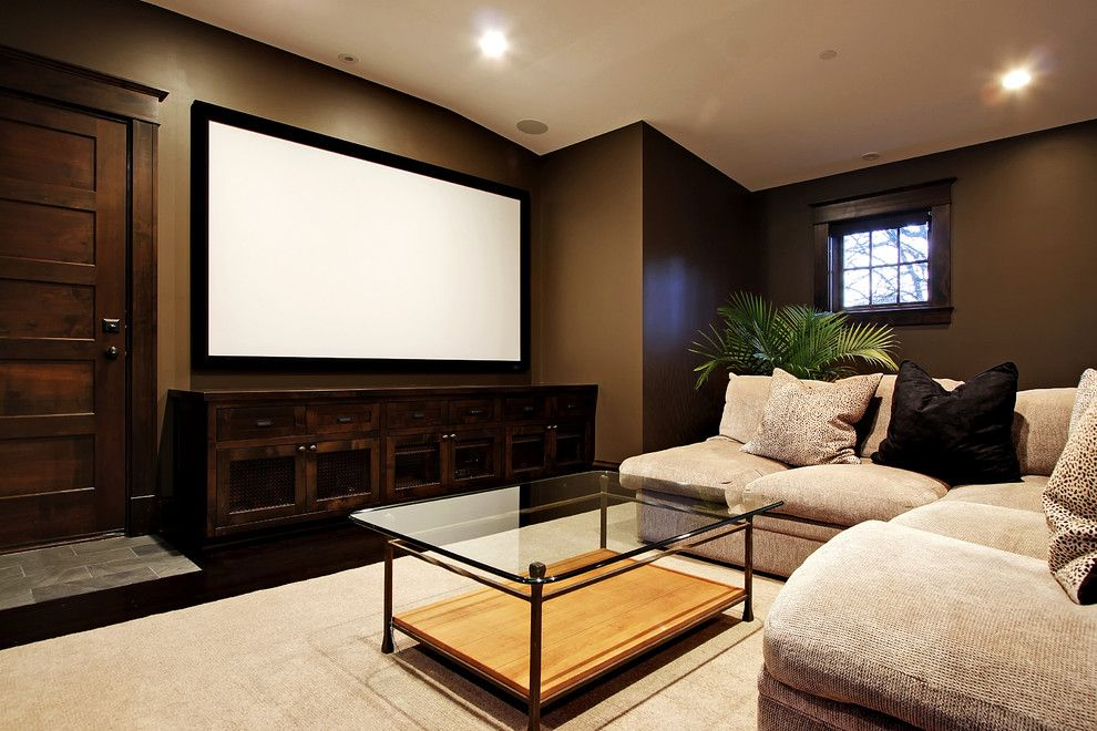 Walnut Creek Theater for a Contemporary Home Theater with a Projection Screen and Media Room by Paul Moon Design