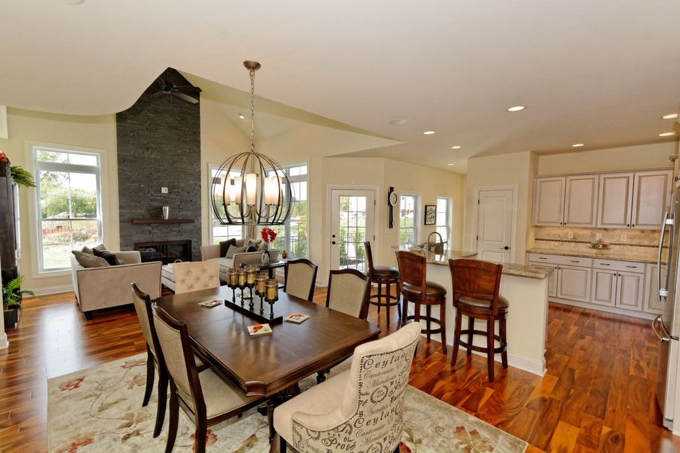 Walnut Creek Theater for a Traditional Dining Room with a Traditional and Village at Shaker Creek by Viscusi Builders Ltd.