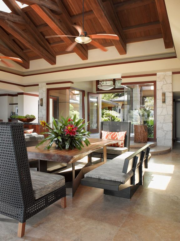 Walters Wicker for a Tropical Living Room with a Casual and Applegate Tran Interiors by Applegate Tran Interiors