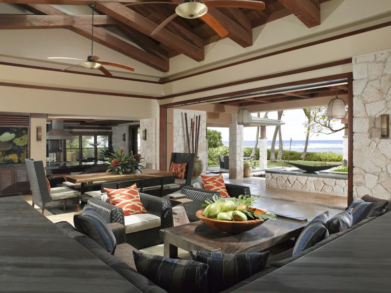 Walters Wicker for a Tropical Living Room with a Interior Designers in Hawaii and Applegate Tran Interiors by Applegate Tran Interiors
