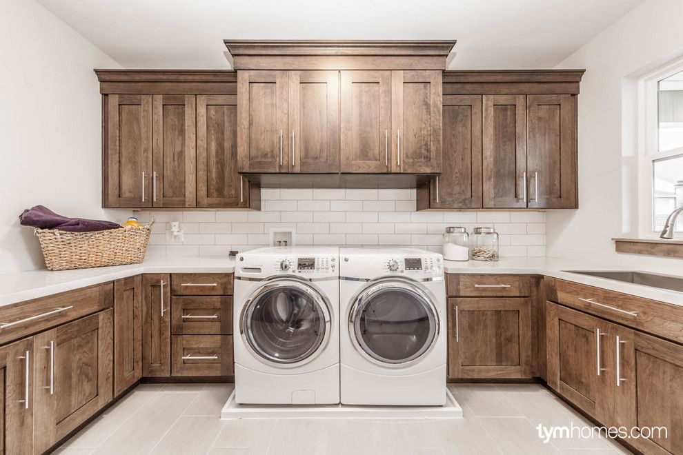 Wardcraft Homes for a  Laundry Room with a Luxury Home and