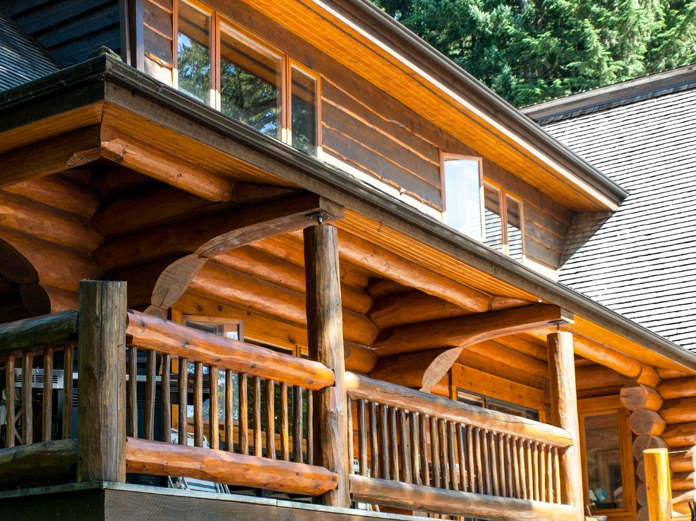 Wardcraft Homes for a Rustic Spaces with a Handcrafted Homes and the Lake House by Cascade Handcrafted Log Homes