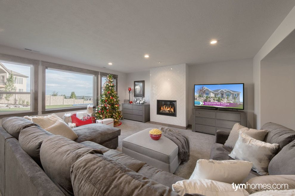 Wardcraft Homes for a  Spaces with a Media Room and