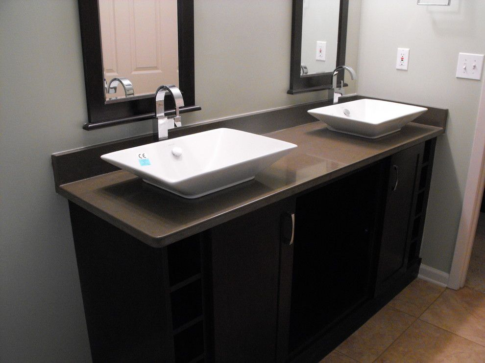 Warner Robins Supply for a Contemporary Bathroom with a Vessel Sink and Atlanta Motor Speedway by Warner Robins Supply