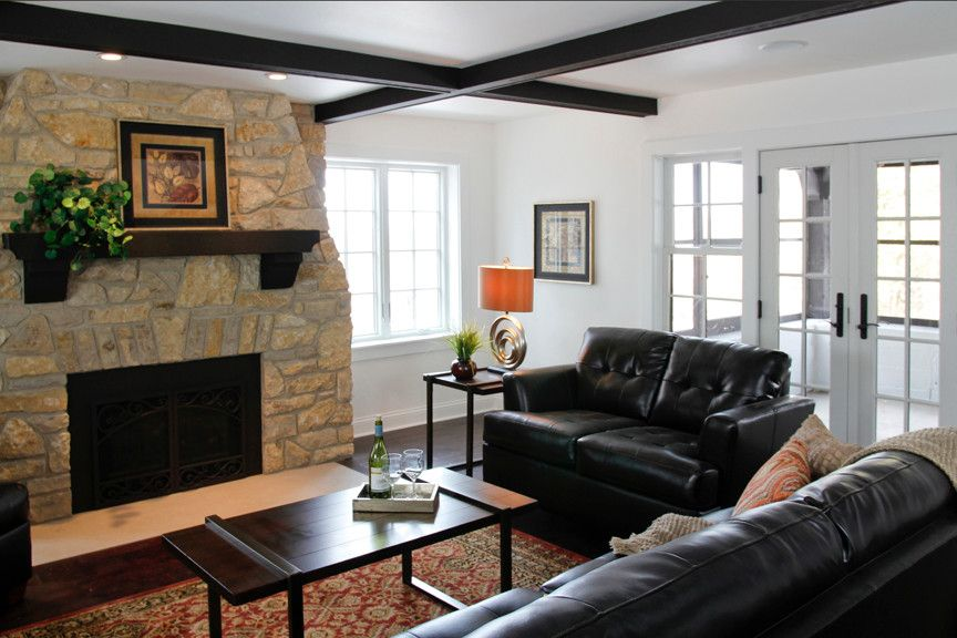 Waunakee Remodeling for a Contemporary Living Room with a French Doors and Waunakee Remodeling Window Project 3 by Waunakee Remodeling