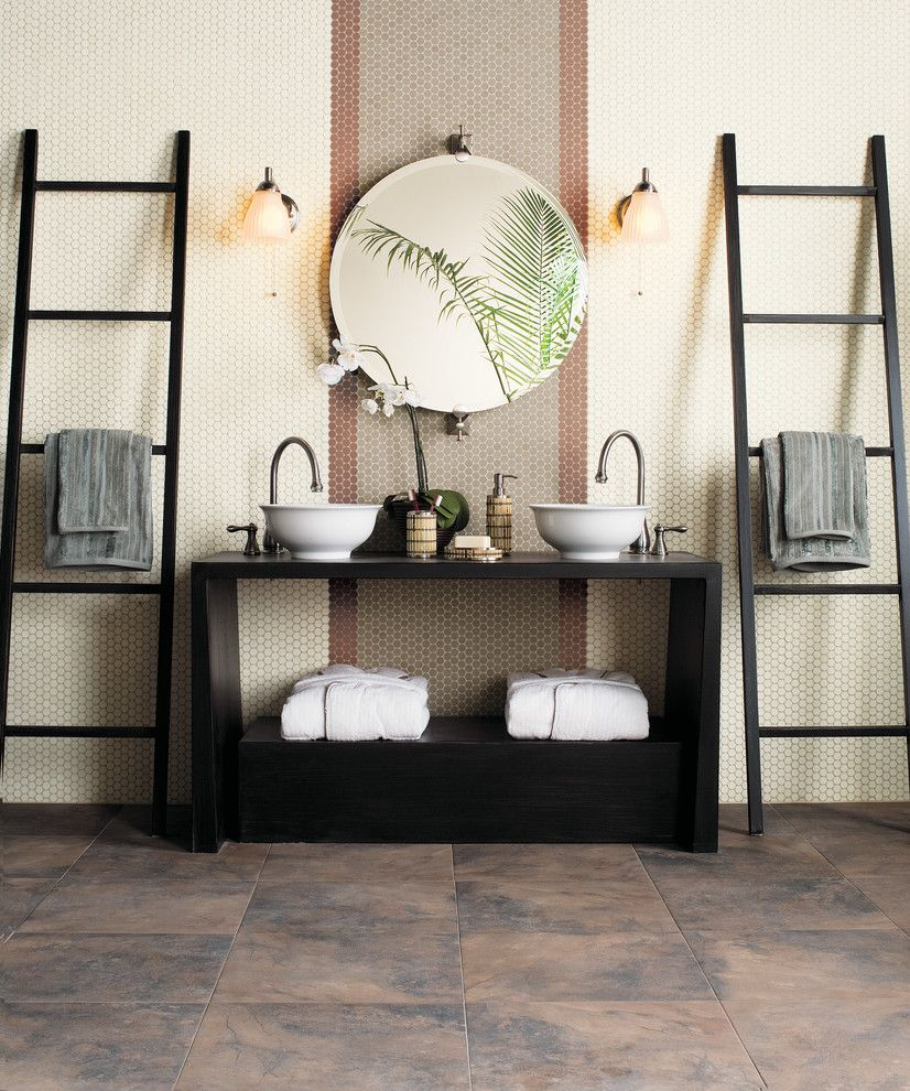 Wausau Tile for a Asian Bathroom with a Floor Tile and Bathroom Inspiration by Floorology