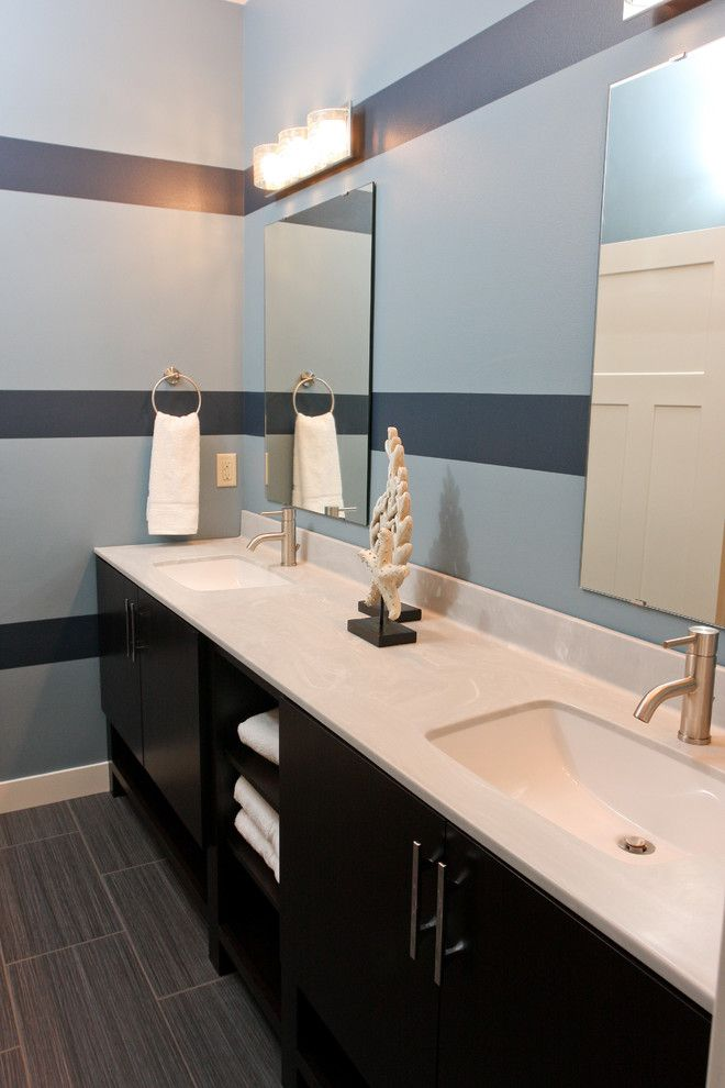 Wausau Tile for a Contemporary Bathroom with a Custom Home and 2014 Parade of Homes by Wausau Homes
