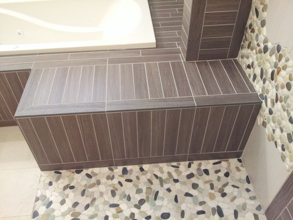 Wausau Tile for a Rustic Bathroom with a Interior Wall Tile and Hazelhurst Renovation by Floorology