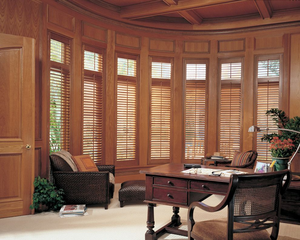 Wausau Windows for a Contemporary Spaces with a Hunter Douglas Window Treatments and Draperies and Home Office Ideas by Accent Window Fashions Llc