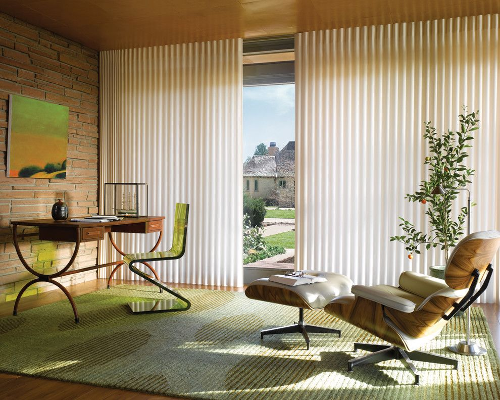 Wausau Windows for a Contemporary Spaces with a Hunter Douglas Wisconsin and Home Office Ideas by Accent Window Fashions Llc